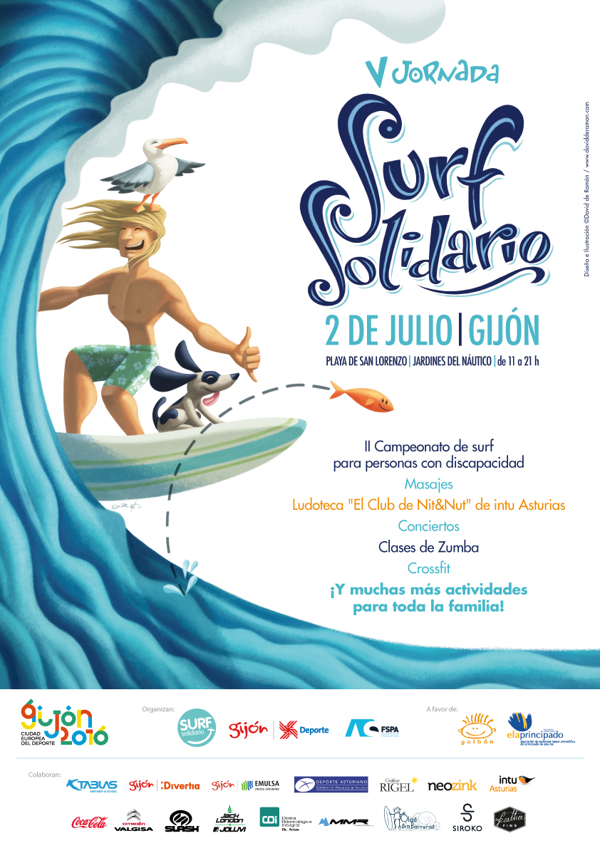 Jack London colaborador de la V Jornada de Surf Solidario
